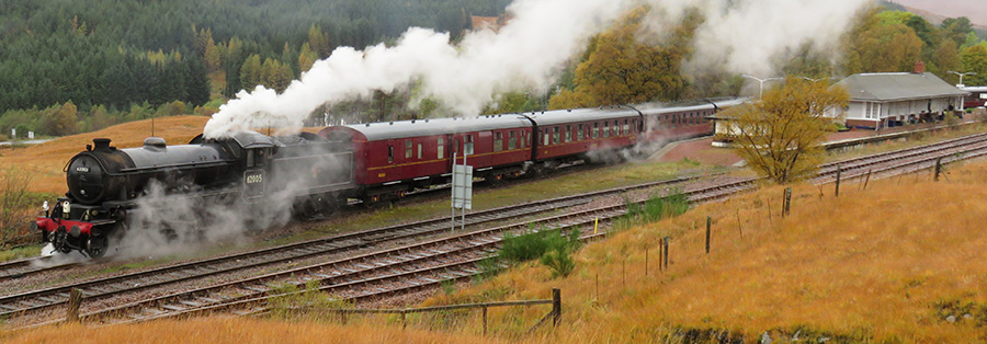 Steam Train at Bridge of Orchy